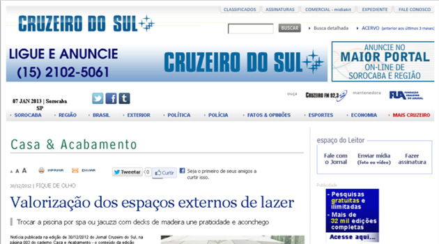 Jornal Cruzeiro do Sul – Dez 2012