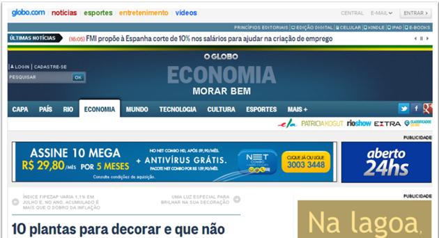 O Globo – Morar Bem – Julho 2013